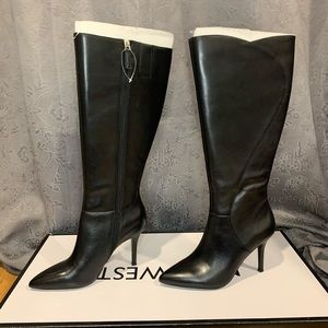 Nine West Fame Wide Calf Knee High Heeled Boots